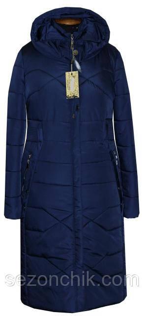 Пальто зимнее женское с капюшоном