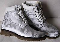 Timberland! Зимние кожаные сапоги ботинки для девочки Тимберланд милитари обувь!