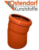 Отвод для наружной канализации Ostendorf KG ПВХ Ø 160х15º