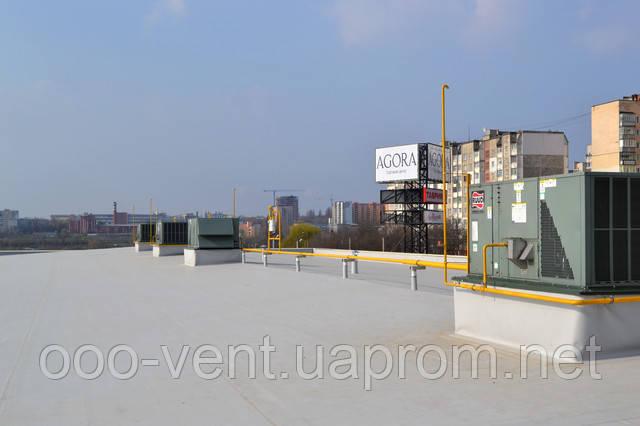 Обігрів і охолодження приміщень на ТЦ АГОРА проводиться руфтопами марки RUUD