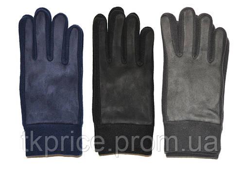 Подростковые флисово - замшивые перчатки одинарные длина 24 см, фото 2