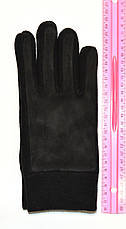 Подростковые флисово - замшивые перчатки одинарные длина 24 см, фото 3