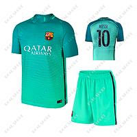 Детская футбольная форма Барселона, Месси №10.  Резервная форма 2017