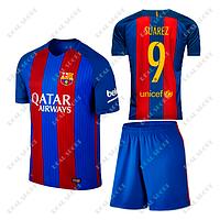 Футбольна форма дитяча Барселона Суарес №9. Основна форма 2017