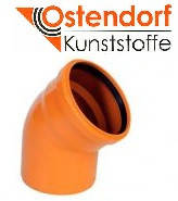 Отвод для наружной канализации Ostendorf KG ПВХ Ø 200х30º