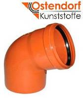 Отвод для наружной канализации Ostendorf KG ПВХ Ø 110х67º