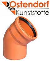 Отвод для наружной канализации Ostendorf KG ПВХ Ø 160х45º
