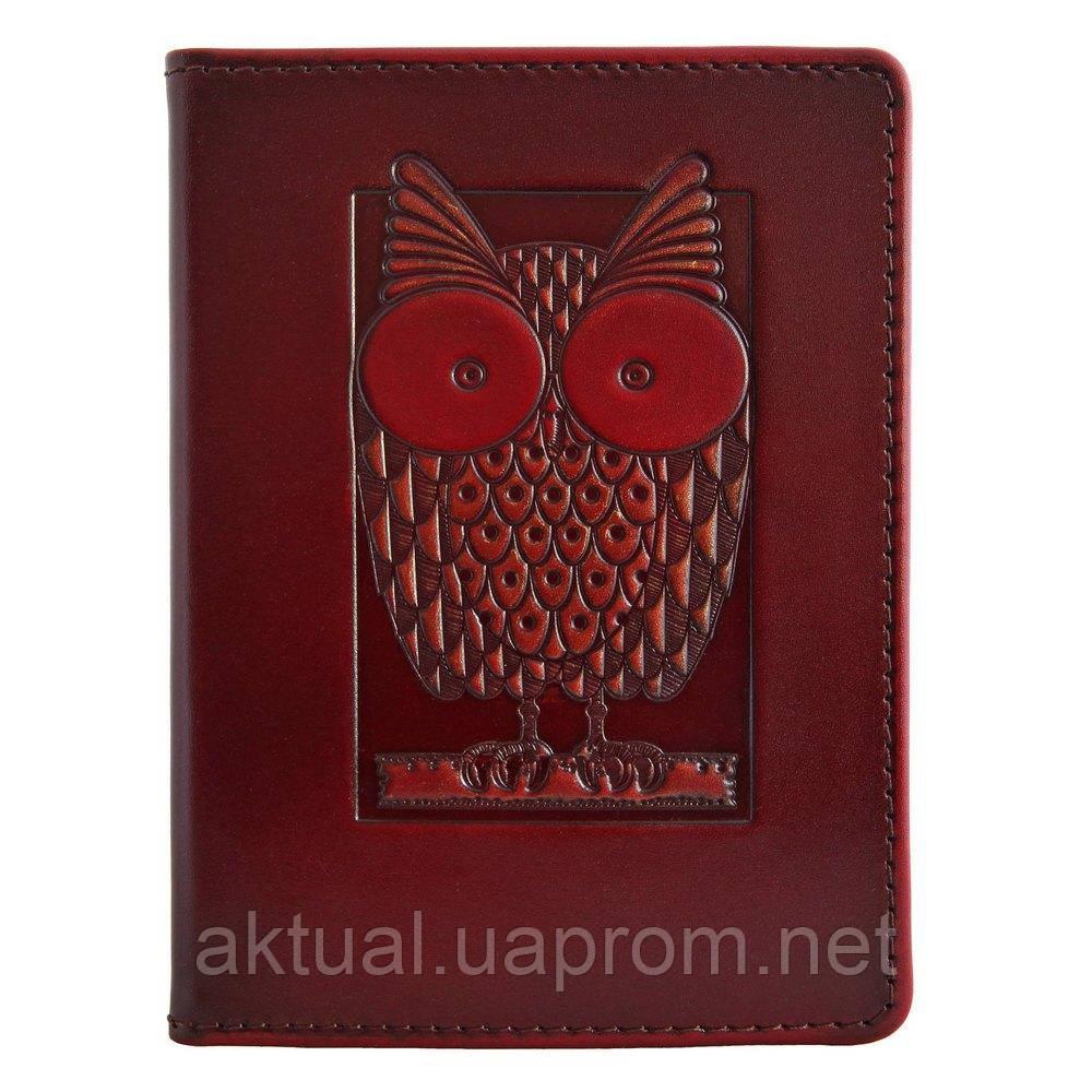 Обложка на паспорт Сова кожа