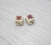 """Игральные кубики для игры в нарды """"Звезда"""" из бильярдного шара"""