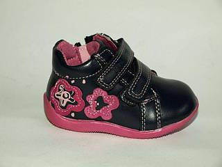 Обувь для девочек, детские ботики черные