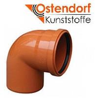 Отвод для наружной канализации Ostendorf KG ПВХ Ø 200х87º