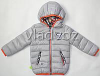 Детская двухсторонняя куртка ветровка на мальчика серая 3-4 года
