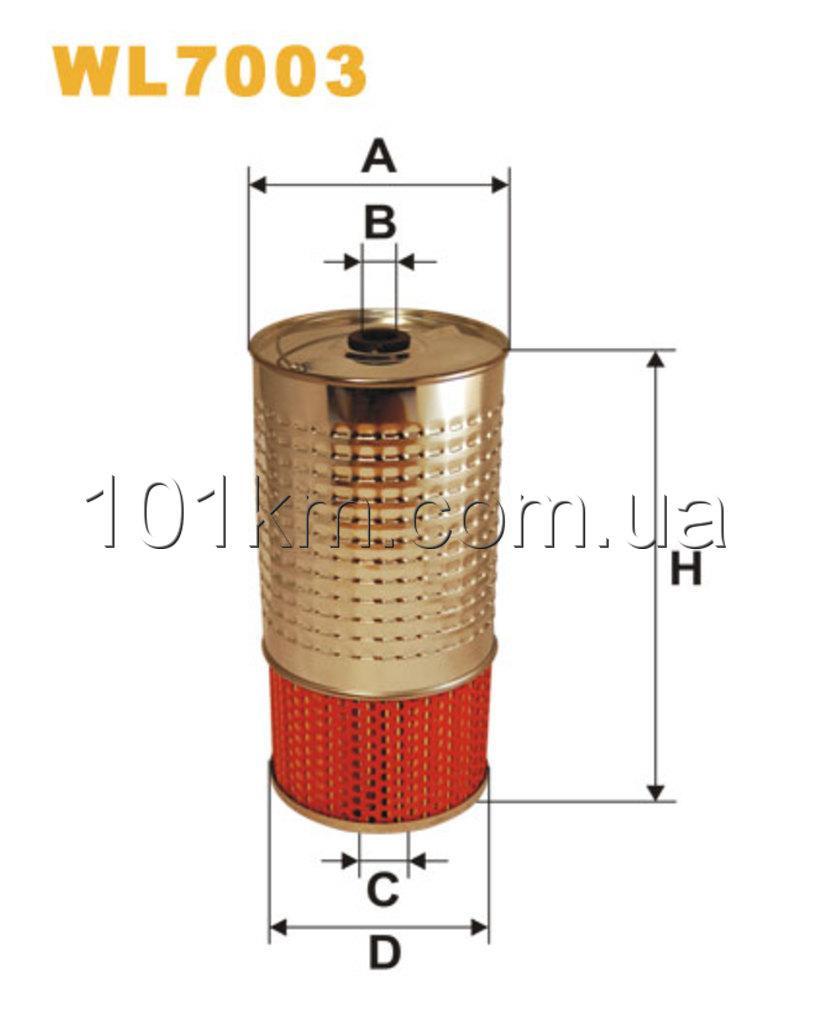 Фильтр масляный WIX WL7003 (OC 601/1)