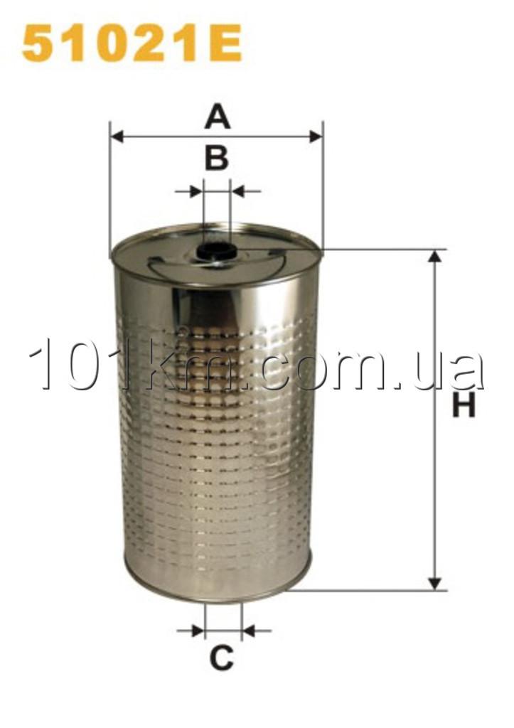 Фильтр масляный WIX 51021E (OC603)
