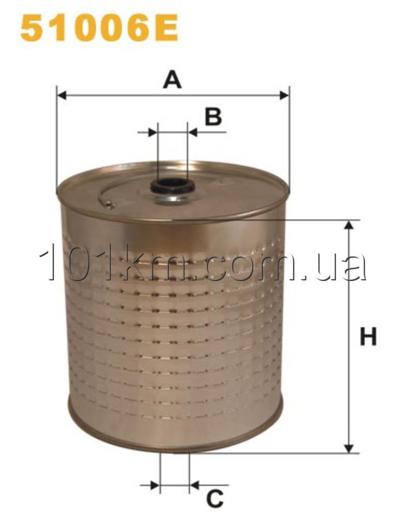 Фильтр масляный WIX 51006E (OC604)