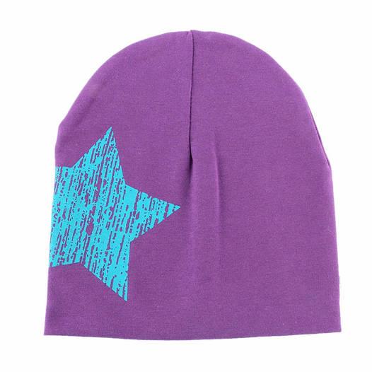 Шапочки  Bape детские для мальчика и девочки  Фиолетовая звезда