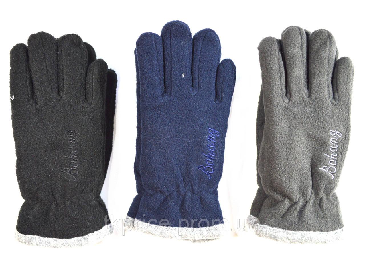 Подростковые флисовые перчатки двойные длина 19 см