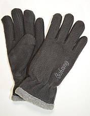 Подростковые флисовые перчатки двойные длина 19 см, фото 2
