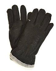 Подростковые флисовые перчатки двойные длина 19 см, фото 3