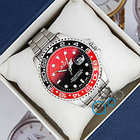 Часы мужские классические наручные Rolex Black/Red (Реплика)