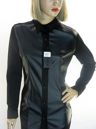 Жіноча сорочка-піджак з екошкіри philipp plein   купити по доступній ... 8cd1b35d5c949