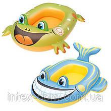 Детский надувной плотик для плавания Bestway (34085) 99-66 см (Синий)