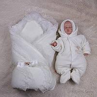 """Зимний детский набор на выписку """"Шарлота+Brilliant Baby"""", айвори"""