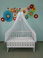 Универсальный балдахин для детской кроватки, голубой