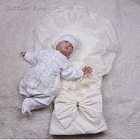 "Зимний набор для новорожденных ""Волшебство+Мальвина"", айвори, фото 1"
