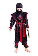 "Детский маскарадный костюм ""Ниндзя"" (Ниндзяго) в черном"