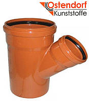 Тройник для наружной канализации Ostendorf KG ПВХ Ø 160/110х45º