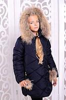Детская куртка зимняя с натуральным мехом