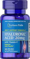 Препарат для восстановления суставов и связок Puritan's Pride Hyaluronic Acid 20 mg 30 Capsules