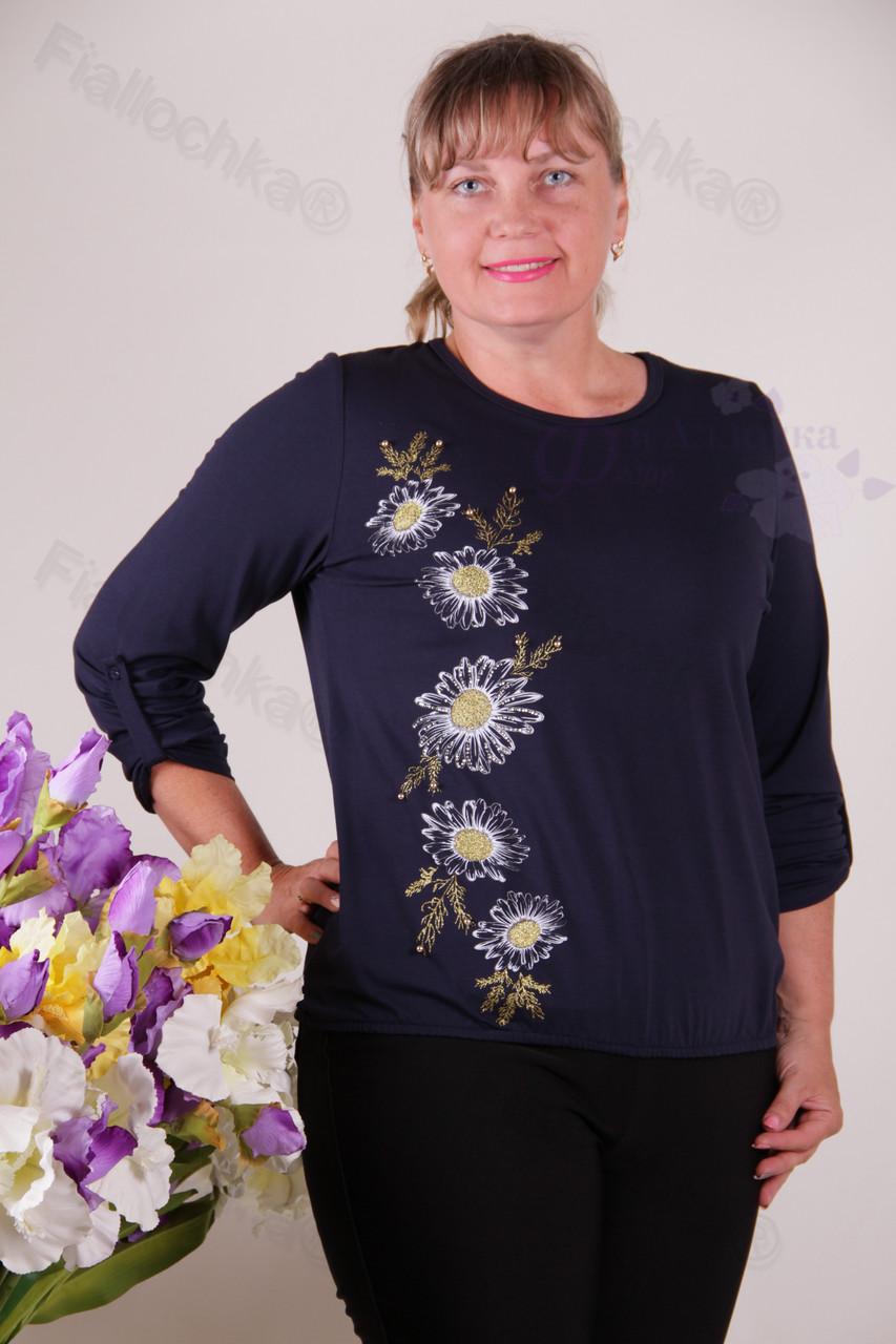 Блуза-туника трикотажная 2-осн688-180 батал от производителя Украина