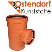 Тройник для наружной канализации Ostendorf KG ПВХ Ø 200/110х87º