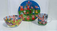 Набор детской посуды Свинка Пеппа, фото 1