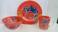 Набор детской посуды Май литл Пони