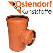 Тройник для наружной канализации Ostendorf KG ПВХ Ø 200/160х87º