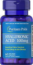 Гіалуронова кислота Puritan's Pride Hyaluronic Acid 100 mg 60 Capsules