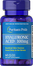 Гиалуроновая кислота Puritan's Pride Hyaluronic Acid 100 mg 60 Capsules