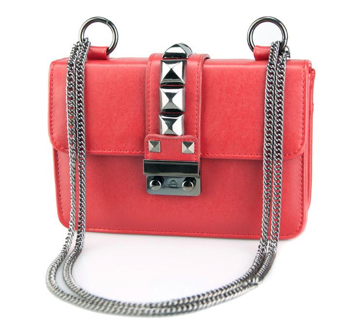 Женская сумочка через плечо | красная