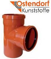 Тройник для наружной канализации Ostendorf KG ПВХ Ø 200/200х87º