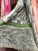 Плед-покрывало на кровать меховое норка квадратики , фото 2