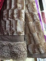 Плед-покрывало на кровать меховое норка квадратики , фото 3