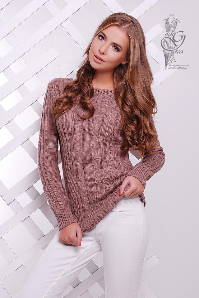 Цвет Фриз Женского свитера из шерсти и акрила Адель-14