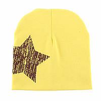 Шапочки  Bape детские для мальчика и девочки  Жёлтая звезда