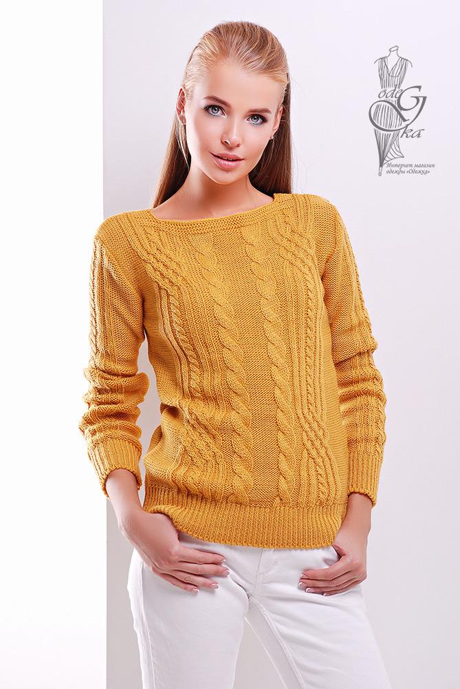 Женский свитер из шерсти и акрила Адель-1