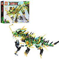"Конструктор SY Ninja Movie ""Механический дракон Зелёного ниндзя"" - арт. SY918 (аналог LEGO 70612)"