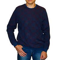 Мужской свитер с бордовым узором Caporicco (Турция)