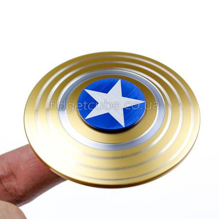 Spinner Капитан Америка золотой качество ТОП 9702, фото 2